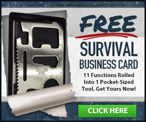 Picture of a survival business card